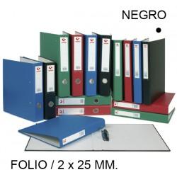 Carpeta de 2 anillas mixtas de 25 mm. grafoplas grafcolor en formato folio, color negro.