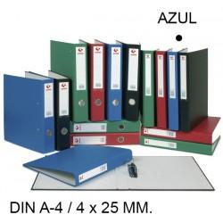 Carpeta de 4 anillas mixtas de 25 mm. grafoplas grafcolor en formato din a-4, color azul.