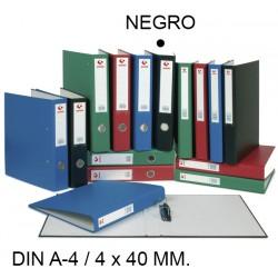 Carpeta de 4 anillas mixtas de 40 mm. grafoplas grafcolor en formato din a-4, color negro.