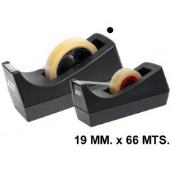 Portarrollos de sobremesa grafoplas fixo 19 mm. x 66 mts. en color negro.