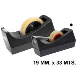 Portarrollos de sobremesa grafoplas fixo 19 mm. x 33 mts. en color negro.