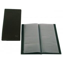 Portatarjetas de visita grafoplas basic en formato americano, 160 tarjetas cuero viejo.