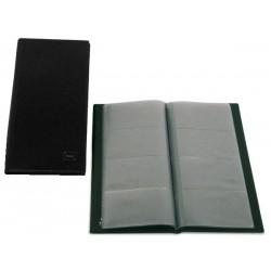 Portatarjetas de visita grafoplas basic en formato americano, 160 tarjetas negro.