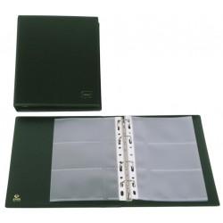 Portatarjetas de visita con 4 anillas mixtas de 20 mm. grafoplas basic en formato 1/4, 60 tarjetas negro.