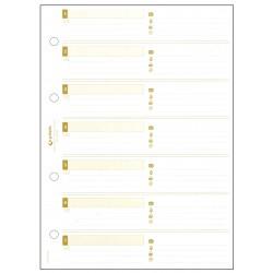 Recambio listín telefónico con 4 anillas mixtas de 20 mm. grafoplas basic en formato 1/4 , blister de 25 hojas de datos.