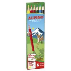Lápiz de color alpino en colores surtidos, estuche de 6 uds.