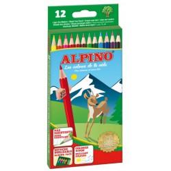 Lápiz de color alpino en colores surtidos, estuche de 12 uds.