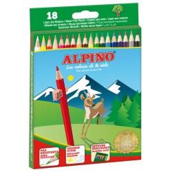 Lápiz de color alpino en colores surtidos, estuche de 18 uds.