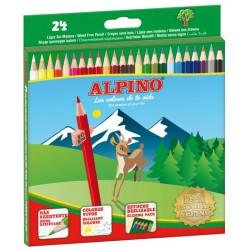 Lápiz de color alpino en colores surtidos, estuche de 24 uds.