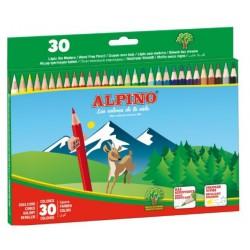 Lápiz de color alpino en colores surtidos, estuche de 30 uds.