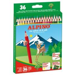 Lápiz de color alpino en colores surtidos, estuche de 36 uds.