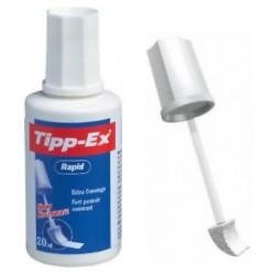 Botella de corrector líquido tipp-ex rapid de 20 ml.