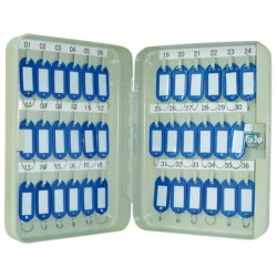 Armario metálico q-connect para 36 llaves en color gris claro.