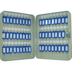 Armario metálico q-connect para 54 llaves en color gris claro.