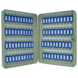 Armario metalico q-connect para 80 llaves en color gris claro.
