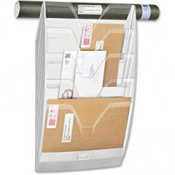 Expositor mural cep con 6 casillas en color transparente.