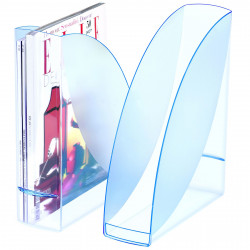 Revistero de archivo cep ice&confort en color azul traslúcido.