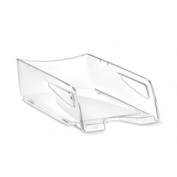 Bandeja portadocumentos cep maxi pro de gran capacidad en color cristal transparente.