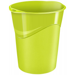 Papelera de plástico cep gloss en color verde vivo.