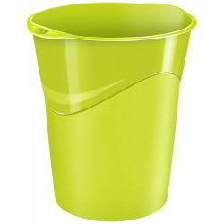 Papelera de polipropileno cep gloss en color verde.