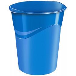 Papelera de plástico cep gloss en color azul vivo.