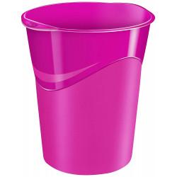 Papelera de plástico cep gloss en color rosa vivo.