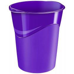 Papelera de plástico cep gloss en color violeta vivo.