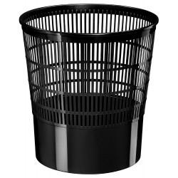 Papelera de plástico cep ecoline de rejilla en color negro.