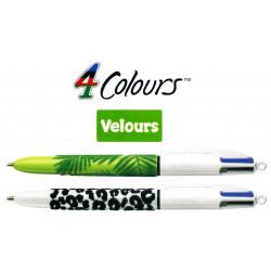 Bolígrafo retráctil multifunción bic 4 colours velours.