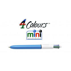 Bolígrafo retráctil multifunción bic 4 colours original mini.