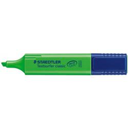Marcador fluorescente staedtler textsurfer classic 364 verde.
