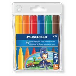 Rotulador escolar staedtler noris club 340 jumbo en colores surtidos, estuche de 6 uds.