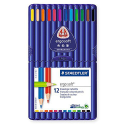 Lápiz de color staedtler ergosoft 157 en colores surtidos, estuche de 12 uds.