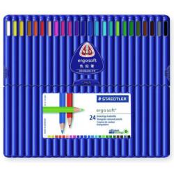 Lápiz de color staedtler ergosoft 157 en colores surtidos, estuche de 24 uds.
