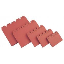 Abecedario separador liderpapel para ficheros del modelo nº 3 en color cuero.