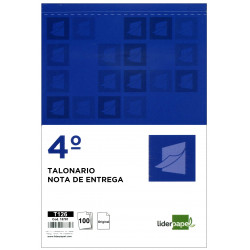Talonario nota de entrega original liderpapel en formato 4º natural de 144x210 mm.