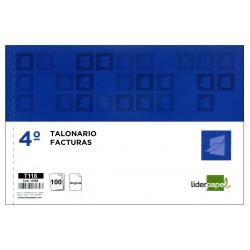 Talonario factura original liderpapel en formato 4º apaisado de 210x144 mm.