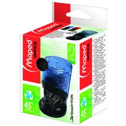 Portaclips de plástico maped en color negro/azul ahumado.