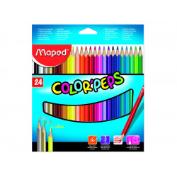 Estuche de lápices de color peps maped con 24 colores.