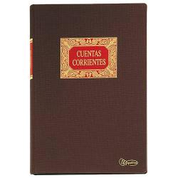 Libro de contabilidad cuentas corrientes miquelrius en formato Fº natural, 100 hj. 102 grs.