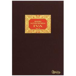 Libro de contabilidad facturas recibidas compras - iva miquelrius en formato Fº natural, 100 hj. 102 grs.