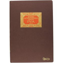 Libro de contabilidad facturas emitidas ventas - iva miquelrius en formato Fº natural, 100 hj. 102 grs.