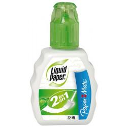 Corrector líquido liquid paper 2 en 1 paper mate de 22 ml..