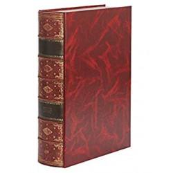 Caja libro pardo serie premier en color marrón.
