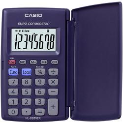 Calculadora de bolsillo con solapa casio hl-820ver 8 dígitos.