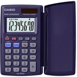 Calculadora de bolsillo con solapa casio hs-8ver 8 dígitos.