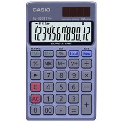 Calculadora de bolsillo casio sl-320ter 12 dígitos.