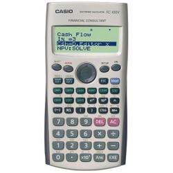 Calculadora financiera casio fc-100v de 10+2 dígitos.