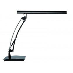 Lámpara de sobremesa led unilux scopia en color negro.