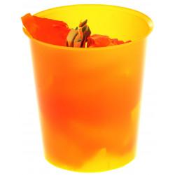 Papelera de polipropileno archivo 2000 ref. 2001 tl en color naranja translúcido.
